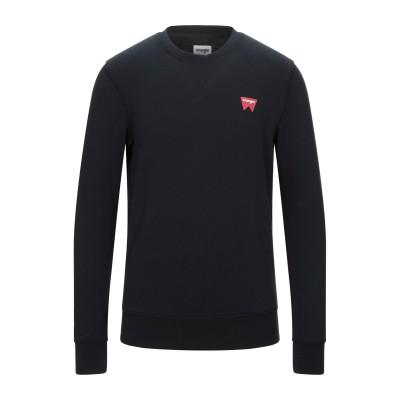 WRANGLER スウェットシャツ ブラック S コットン 100% スウェットシャツ