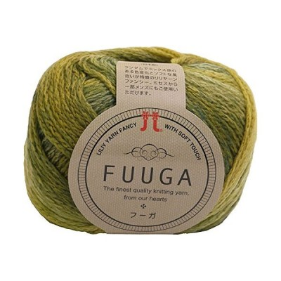 ハマナカ フーガ 毛糸 極太 col.12 黄緑 系 40g 約120m 10玉セット 0018