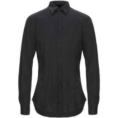 LIU •JO MAN シャツ ブラック 39 コットン 68% / ナイロン 28% / ポリウレタン 4% シャツ