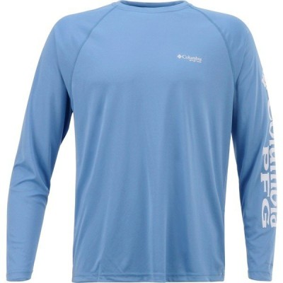 コロンビア シャツ トップス メンズ Columbia Sportswear Men's Terminal Tackle Long Sleeve T-shirt White Logo