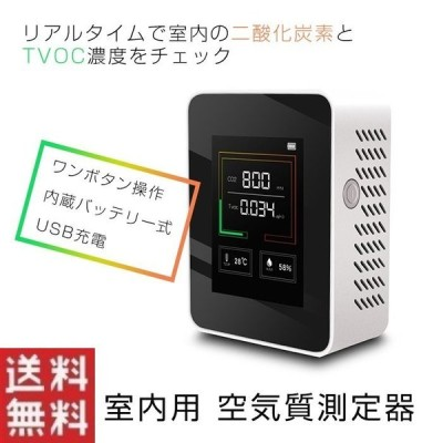 二酸化炭素濃度計 二酸化炭素濃度計測器 家庭用 二酸化炭素モニター 二酸化炭素 co2濃度測定器 co2測定器 co2モニター 二酸化炭素濃度 tvoc
