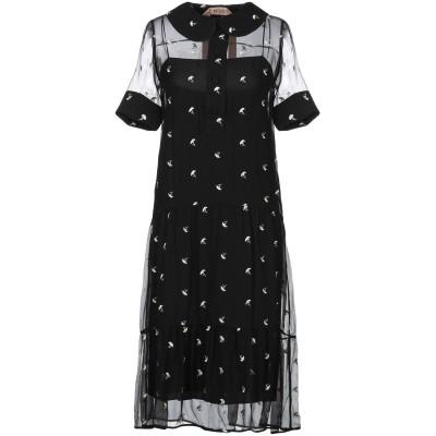 ヌメロ ヴェントゥーノ N°21 7分丈ワンピース・ドレス ブラック 38 シルク 100% 7分丈ワンピース・ドレス
