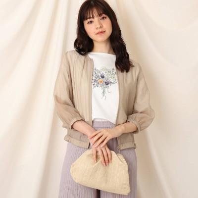 クチュール ブローチ Couture brooch シアーバックフリルブルゾン (ベージュ)