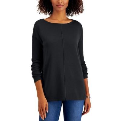 スタイルアンドコー レディース ニット・セーター アウター Petite Seam-Front Sweater