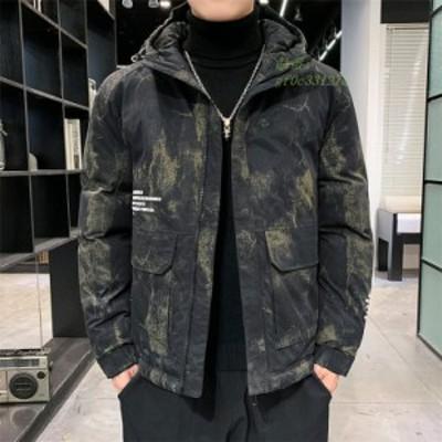 メンズ 中綿コート ジャケット ダウンコート 綿入れ フード アウトドア 男子 カジュアル アウター 防寒 上着 通勤