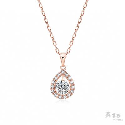 SOPHIA 蘇菲亞珠寶 - 愛洛娜 30分 18K玫瑰金 鑽石項鍊