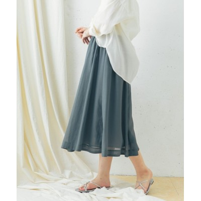 URBAN RESEARCH ROSSO WOMEN / ギャザーミディスカート WOMEN スカート > スカート