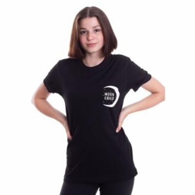 ダークムーン Dark Moon レディース Tシャツ トップス - Moonchild - T-Shirt black