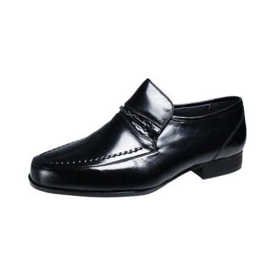 マドラスメンズシューズmadras熟練の技術で作りで作られたUチップスリッポン紳士靴6503ブラック