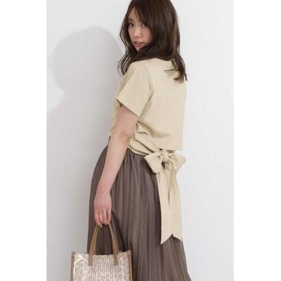 【プロポーション ボディドレッシング】 《EDIT COLOGN》バックリボンTシャツ レディース ベージュ FR PROPORTION BODY DRESSING