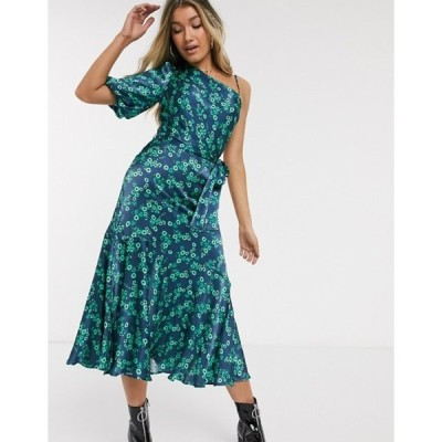 ゴースト レディース ワンピース トップス Ghost Raina floral asymmetric midi dress