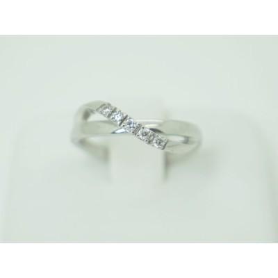 4℃ ヨンドシー K18WG ダイヤモンド リング 日本サイズ#6号 上質ダイヤモンド!!指輪 新品同様美品!!