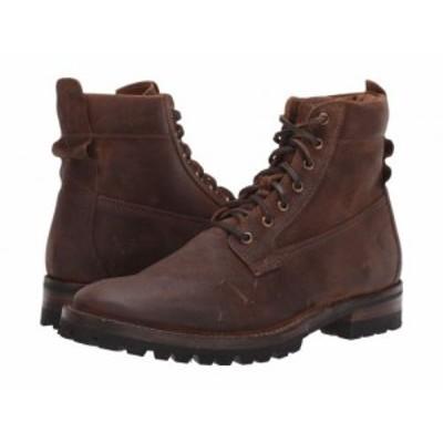 Frye フライ メンズ 男性用 シューズ 靴 ブーツ レースアップ 編み上げ Union Workboot Brown WP Waxed Suede【送料無料】