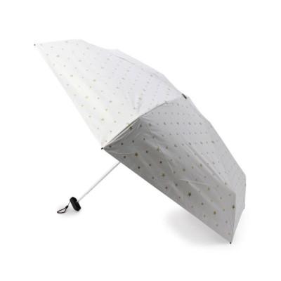 (grove/グローブ)Wpc. 遮光スターミニ折り畳み傘(晴雨兼用)/レディース アイボリー(804)