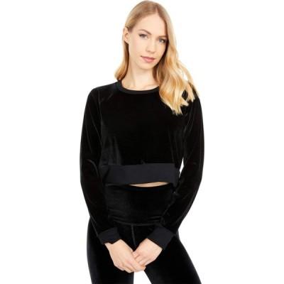 ビヨンドヨガ Beyond Yoga レディース ベアトップ・チューブトップ・クロップド トップス Cropped Velvet Pullover Black