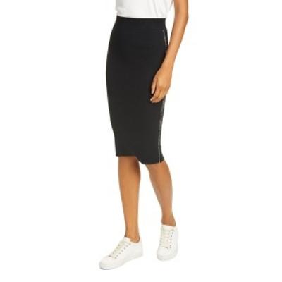 エーティーエム レディース スカート ボトムス Sweater Pencil Skirt BLACK/CHAL