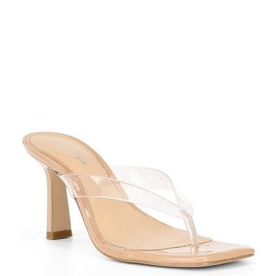 ジアーニビニ レディース サンダル シューズ Aryabella Patent Leather Clear Strap Thong Sandals Clear