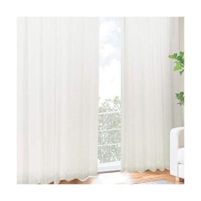 [カーテンくれない] UVカット率【99.3%】の二重レースカーテン 二枚仕立て しっかりとした厚みで 断熱 遮熱効果大 紫外線カット率99.3% 昼
