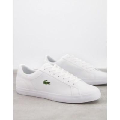 ラコステ メンズ スニーカー シューズ Lacoste lerond BL2 sneakers in white leather White