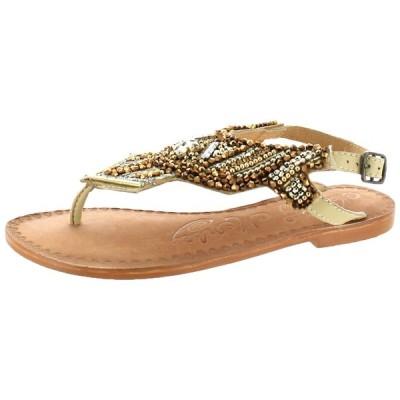 ハイヒール ノーティーモンキー Naughty Monkey Pop Life Women's Leather Embellished Slingback Sandals