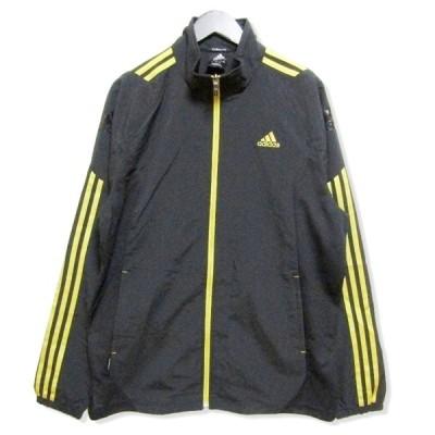 adidas アディダス ウォームアップ ジャケット X48244 ジャージ トラックジャケット ゴールド ブラック 黒 M メンズ  中古 27006959