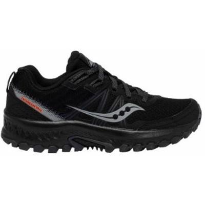 サッカニー レディース スニーカー シューズ Saucony Women's Excursion 14 Trail Running Shoes Black/Grey