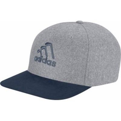 アディダス メンズ 帽子 アクセサリー Adidas Men's 3-Stripes Club Golf Hat Grey