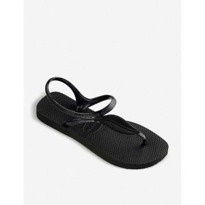 ハワイアナス HAVAIANAS レディース ビーチサンダル シューズ・靴 Flash Urban Plus rubber sandals BLACK