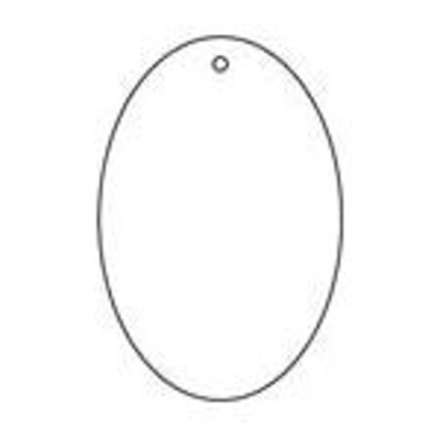 TRUSCO 白無地板 楕円型 5枚組 60×40×2厚【T886-43】(管工機材・空調資材)