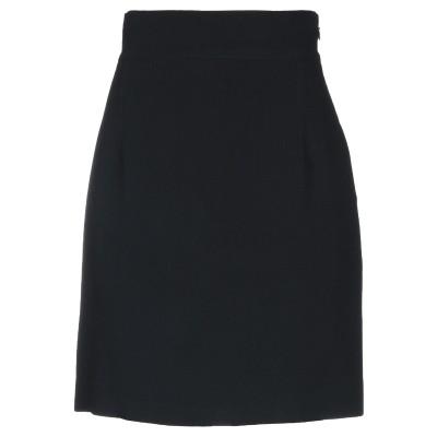 CLIPS ひざ丈スカート ブラック 44 レーヨン 65% / アセテート 32% / ポリウレタン 3% ひざ丈スカート