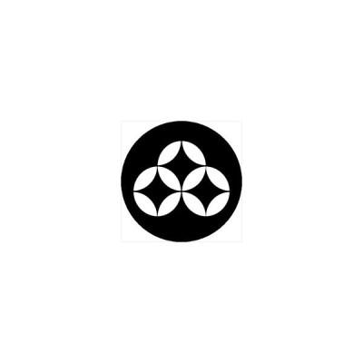 家紋シール 持ち合い七宝紋 直径4cm 丸型 白紋 4枚セット KS44M-3702W