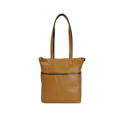 [豊岡鞄]トートバッグ A4 ファスナー付 本革 レザー 縦型 無地 軽量 小さめ 薄い キャメル