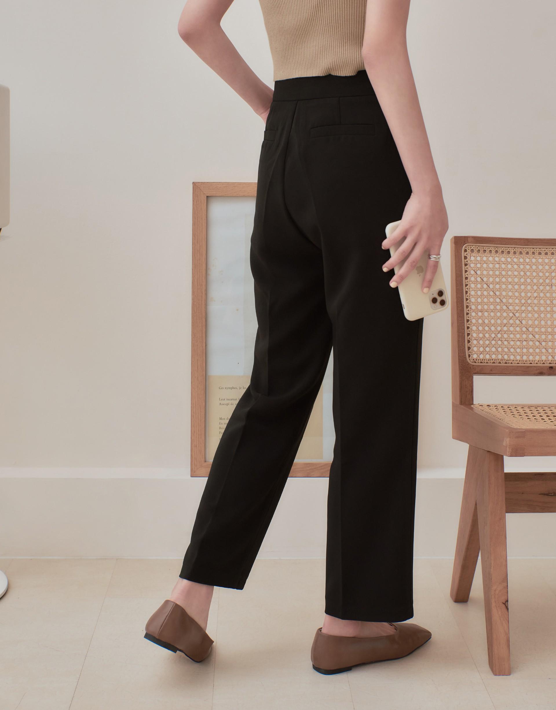 時髦質感長腿顯瘦西裝褲-PAZZO