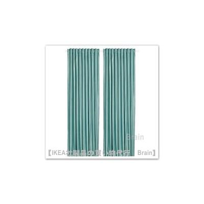 IKEA/イケア ELDTORN/エルドトルン 遮光カーテン(わずかに透光)1組145x250 cm グレーターコイズ