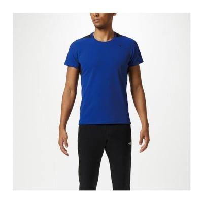 [ミズノ] ドライエアロフローTシャツ[メンズ] リフレックスブルー