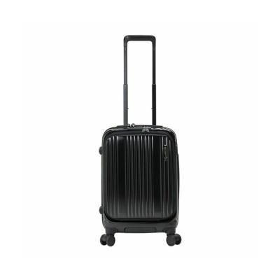 【カバンのセレクション】 バーマス インターシティ スーツケース 機内持ち込み Sサイズ/35L フロントオープン ストッパー USBポート BERMAS 60500 ユニセックス ブラック系1 フリー Bag&Luggage SELECTION