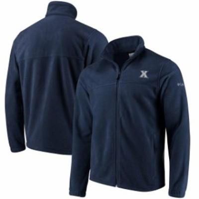 Columbia コロンビア スポーツ用品  Columbia Xavier Musketeers Flanker Full Zip Fleece Jacket - Navy Blue