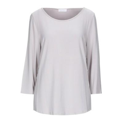 LE TRICOT PERUGIA T シャツ ライトグレー XXL レーヨン 96% / ポリウレタン 4% / シルク T シャツ