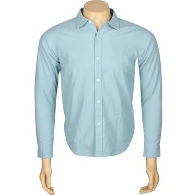 アンディフィーテッド Undefeated メンズ シャツ シャンブレーシャツ トップス Vintage Chambray Long Sleeve Shirt blue/light blue