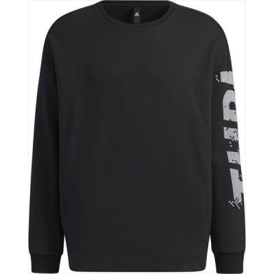 [adidas]アディダス メンズ M WORDING クルーネックスウェット (24810)(GL8700) ブラック[取寄商品]