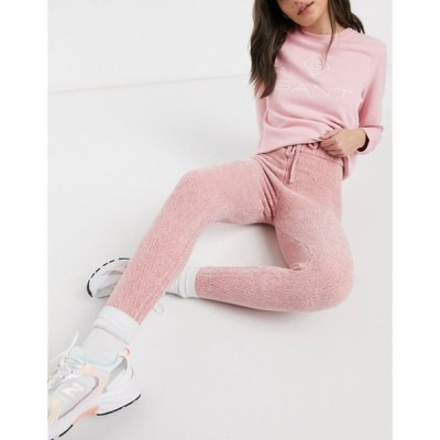 インザスタイル レディース カジュアルパンツ ボトムス In The Style x Billie Faiers knitted drawstring sweatpants co-ord in pink