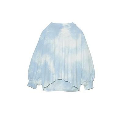 [ファーファー] タイダイビッグTシャツ RWCT212037 レディース BLU F