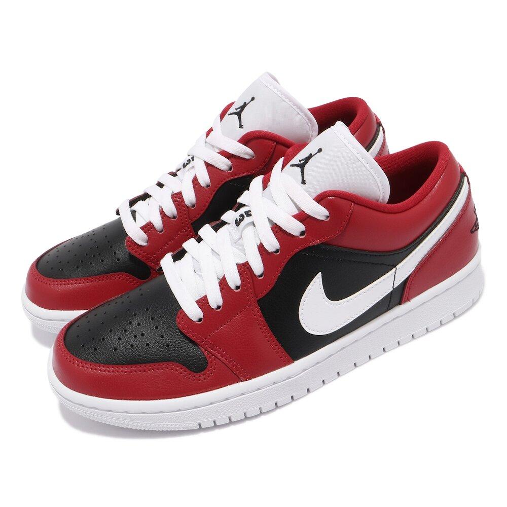 NIKE 休閒鞋 W Air Jordan 1代 女鞋 低筒 芝加哥 喬丹 AJ1 黑 紅 [DC0774-603]