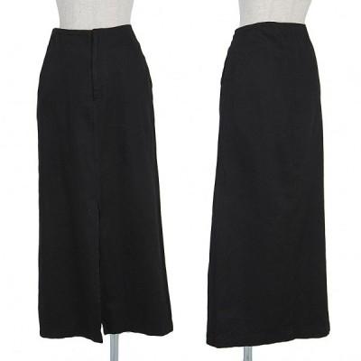 【SALE】ワイズY's コットンカポックツイルセンタースリットスカート 黒2 【レディース】