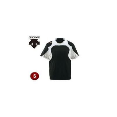 DESCENTE/デサント  DB115-BKSG ベースボールシャツ 【S】 (ブラック×Sホワイト×Sゴールド)