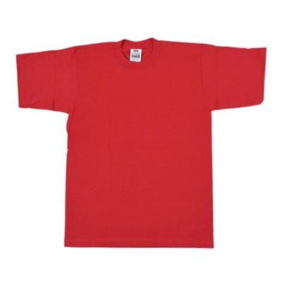 プロクラブ Tシャツ レッド ヘビーウエイト 半袖シャツ クルーネック USサイズ 無地 メンズ レディース
