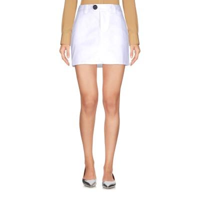 ディースクエアード DSQUARED2 ミニスカート ホワイト 38 コットン 97% / ポリウレタン 3% ミニスカート