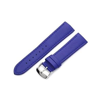 【新品・送料無料】Hadley-Roma メンズ MSM739RA 180 18mm ブラック 純正「Lorica」レザー 腕時計ベルト 20 ブルー