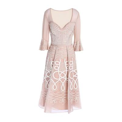 テンパリー・ロンドン TEMPERLEY LONDON 7分丈ワンピース・ドレス サンド 10 シルク 100% 7分丈ワンピース・ドレス