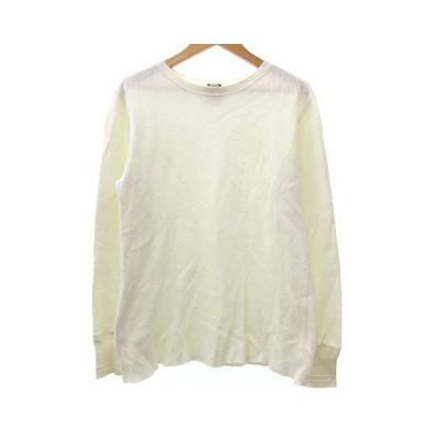 【中古】グラッドハンド GLAD HAND&CO. Tシャツ カットソー 長袖 サーマル クルーネック CREW コットン L 白 ホワイト R07209 メンズ 【ベクトル 古着】
